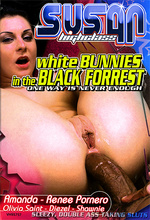 white bunnies in the black forrest